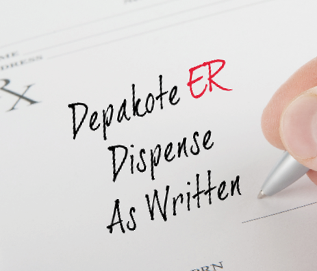Depakote ER prescription with dispense as written
